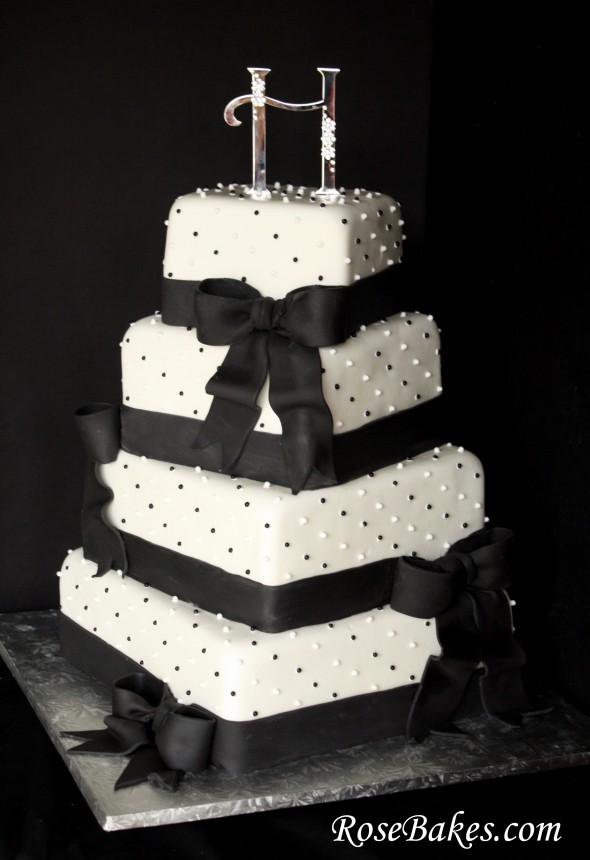 Black Amp White Wedding Cake