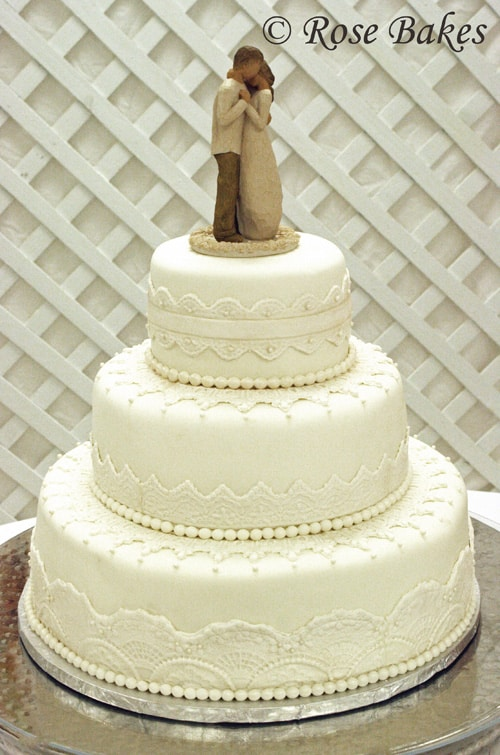 fancy wedding cakes lace wedding cake 4046