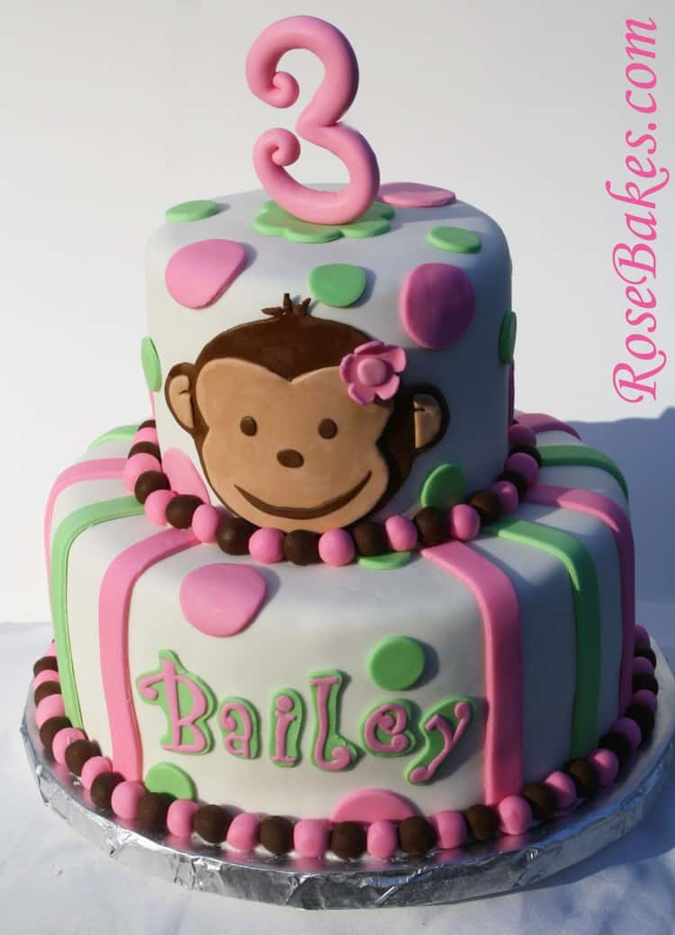 PInk Mod Monkey Cake Picture - Rose Bakes