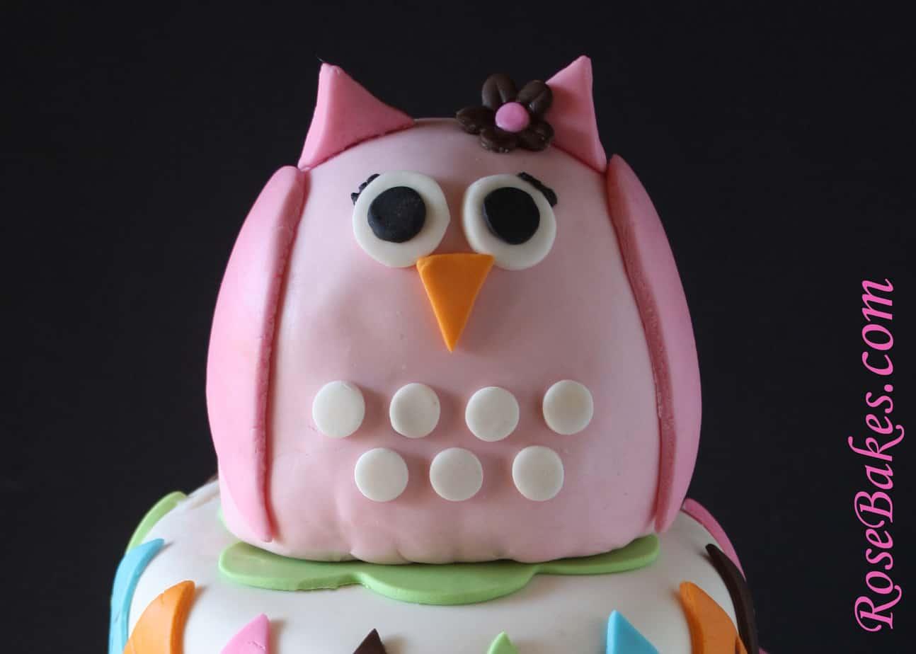 pink owl argyle lollipops baby shower cake owl rose bakes
