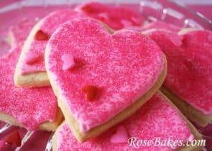 Valentine Cookies on Platter
