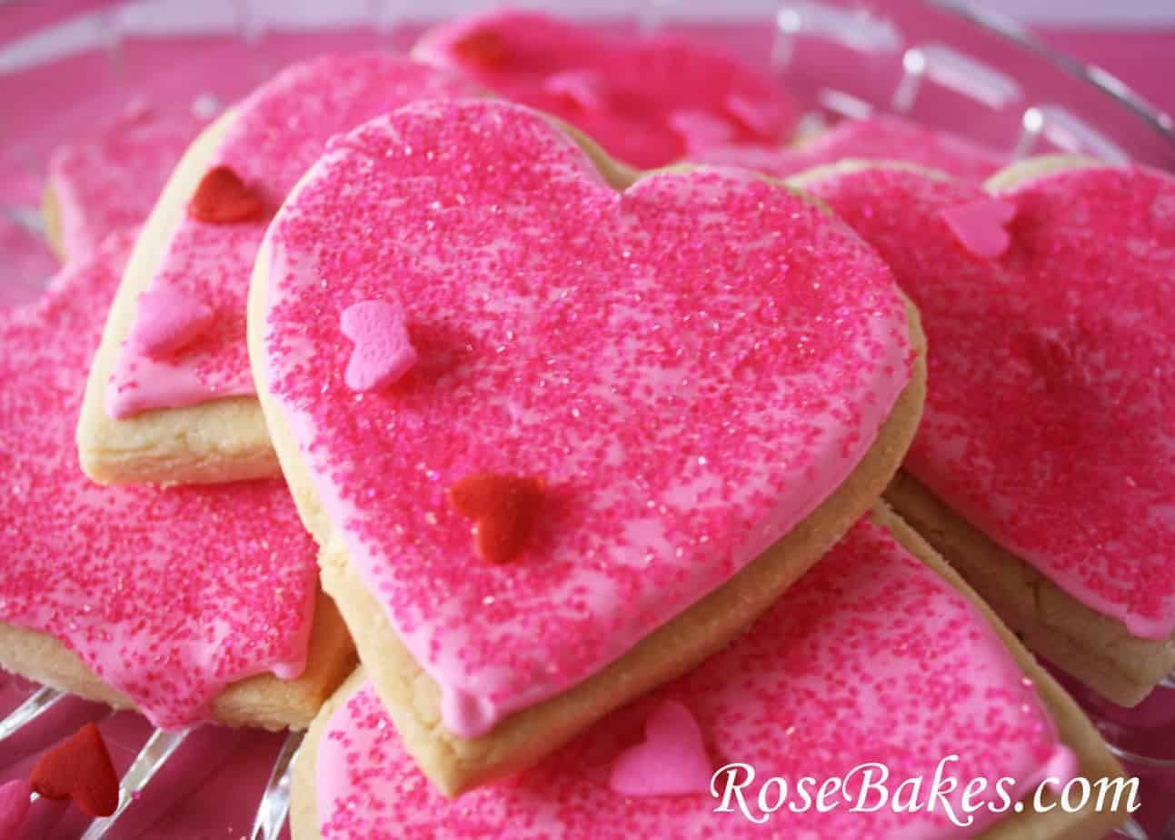 Valentine Cookies on Platter