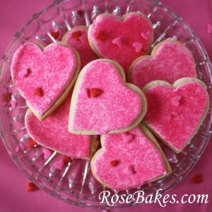 Valentines Cookies on Platter