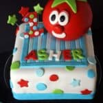 VeggieTales Bob the Tomato 1st Birthday Cake 2