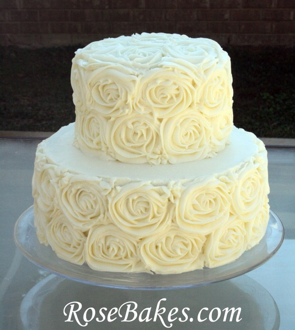 Rose Cake Design Icing : Wedding cakes on Pinterest Buttercream Wedding Cake ...