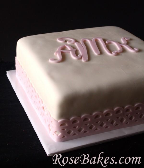 Baby Dedication Cake Images : Baby Girl Dedication Cake & Cookies
