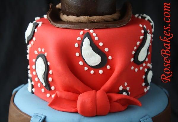 Cowboy Cake With Jeans Bandana Amp Hat