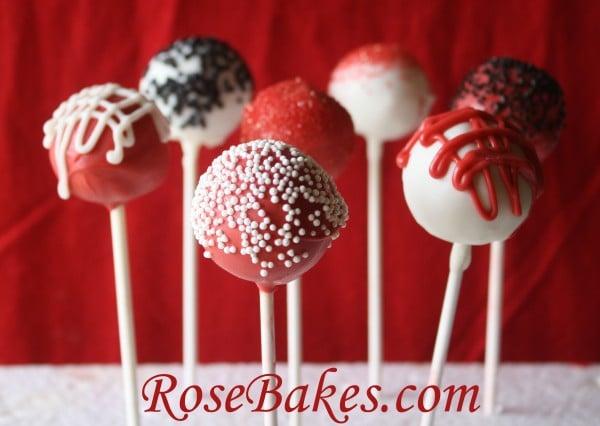 Black Red Amp White Mardi Gras Cake Pops