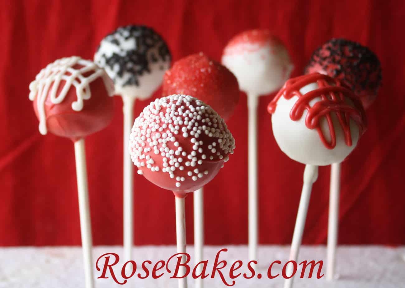 Black Red White Cake Pops 2 Rose Bakes