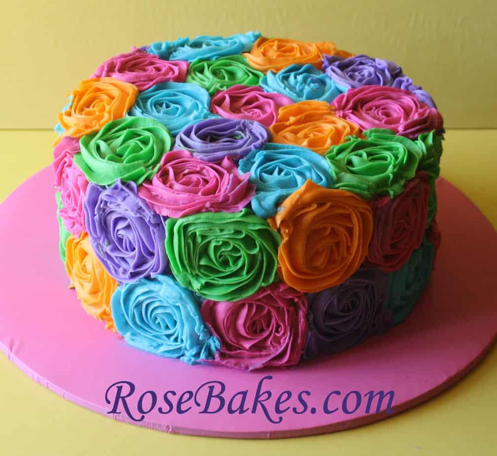 Bright Buttercream Roses RB - Rose Bakes