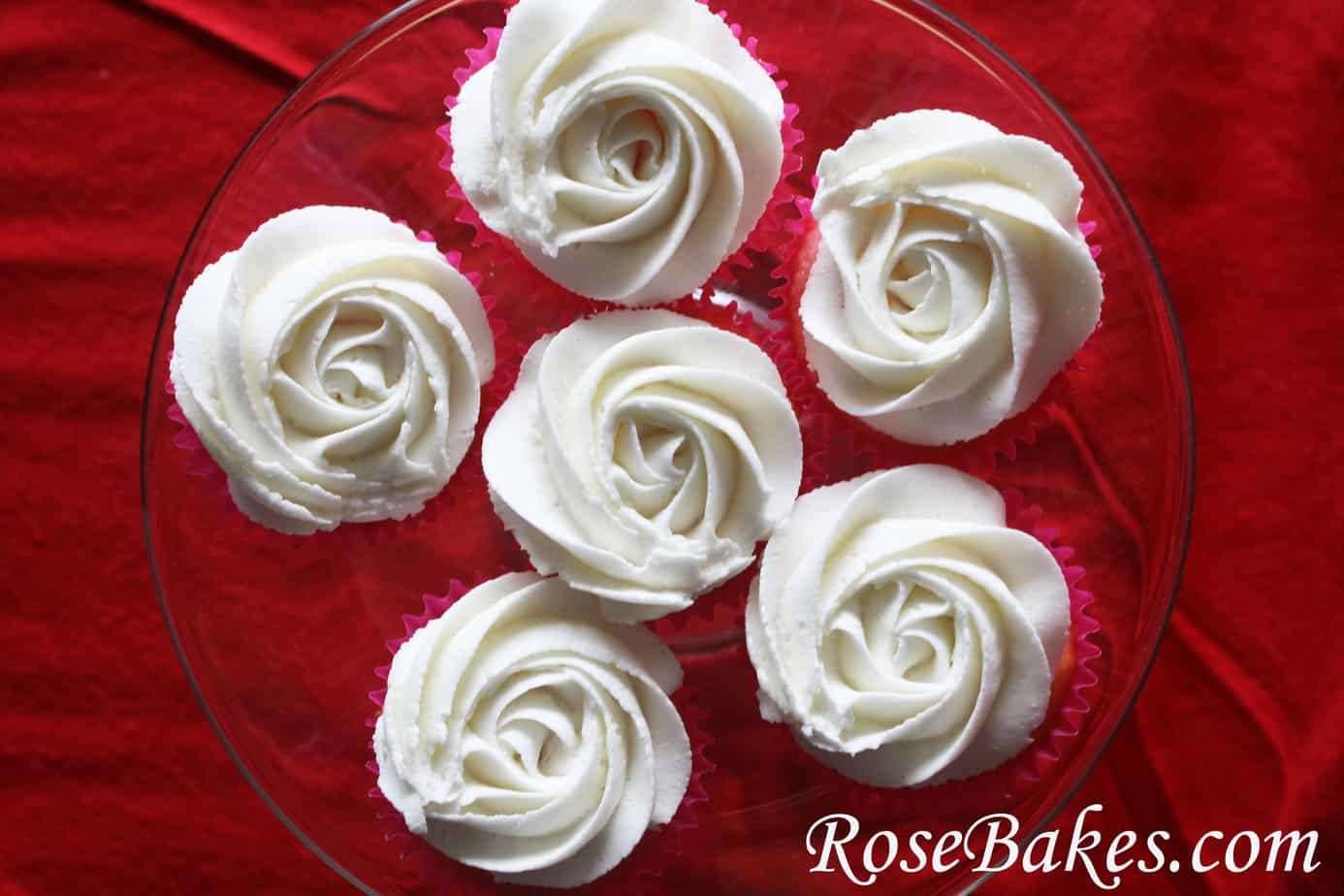 how to make a buttercream rose cupcake