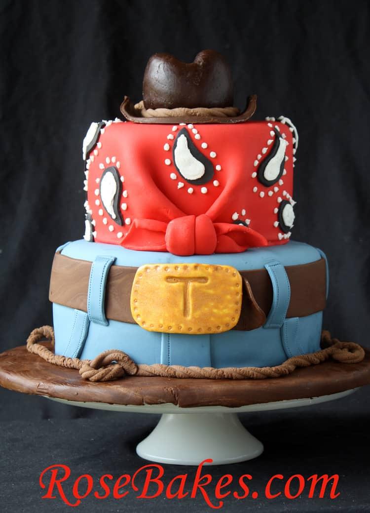 Cowboy Cake With Hat Jeans Bandana 2 Rose Bakes