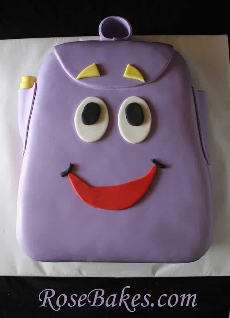 Dora The Explorer Backpack Cake Rose Bakes