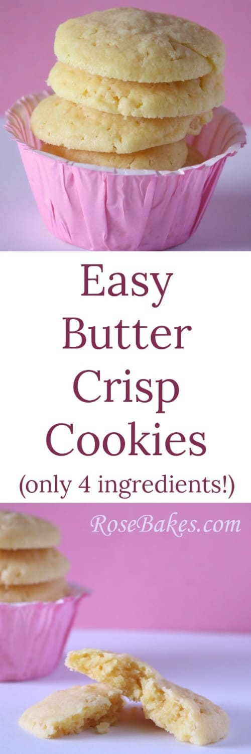 Easy Butter Crisp Cookies