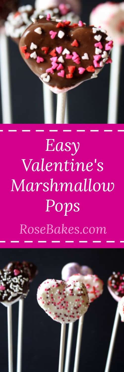 Easy Valentine's Marshmallow Pops