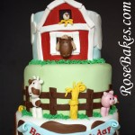 Farm Yard Animals Cake