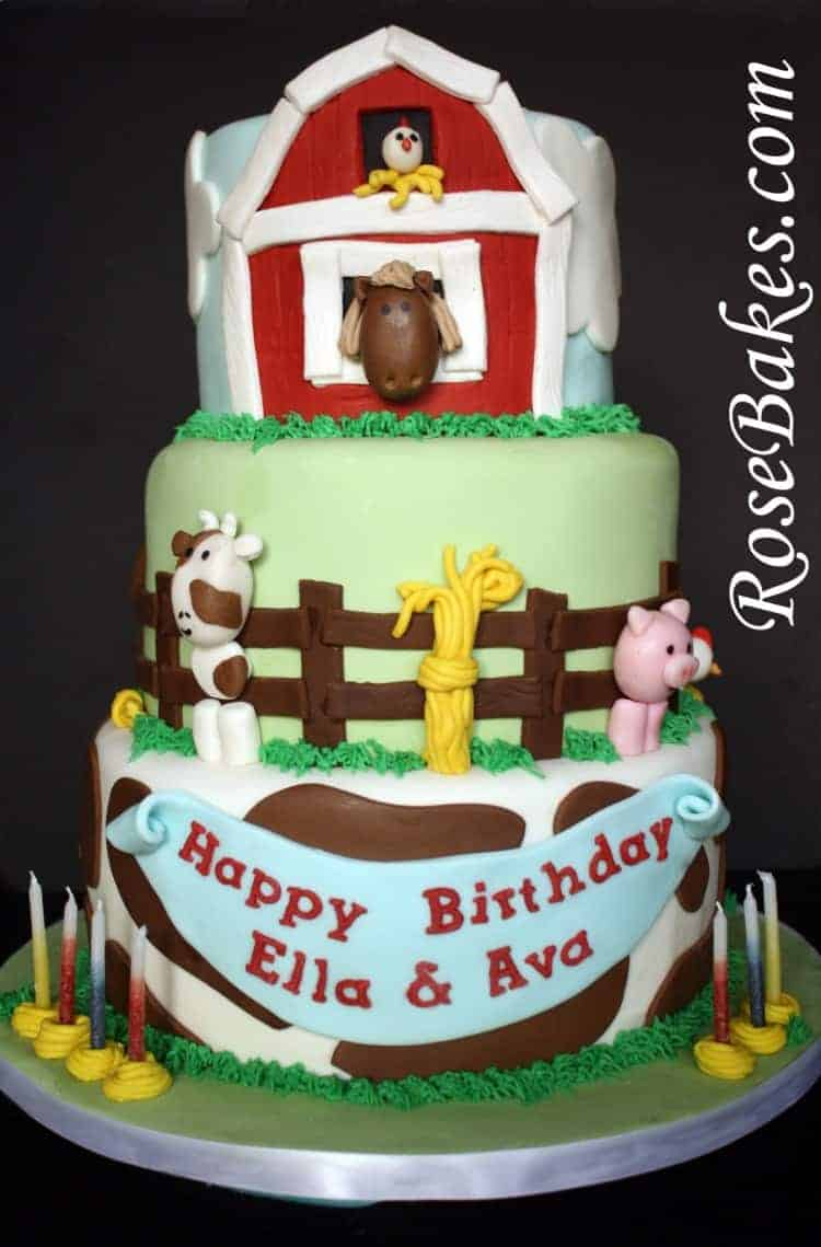 Farm Animals Cupcake Toppers Tutorials Rose Bakes