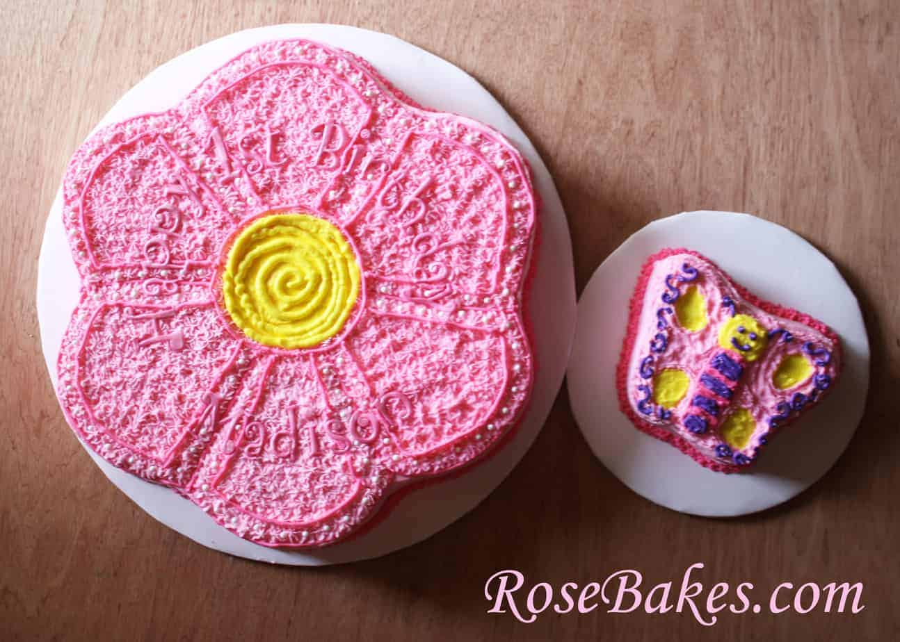 Flower and Butterfly Cakes