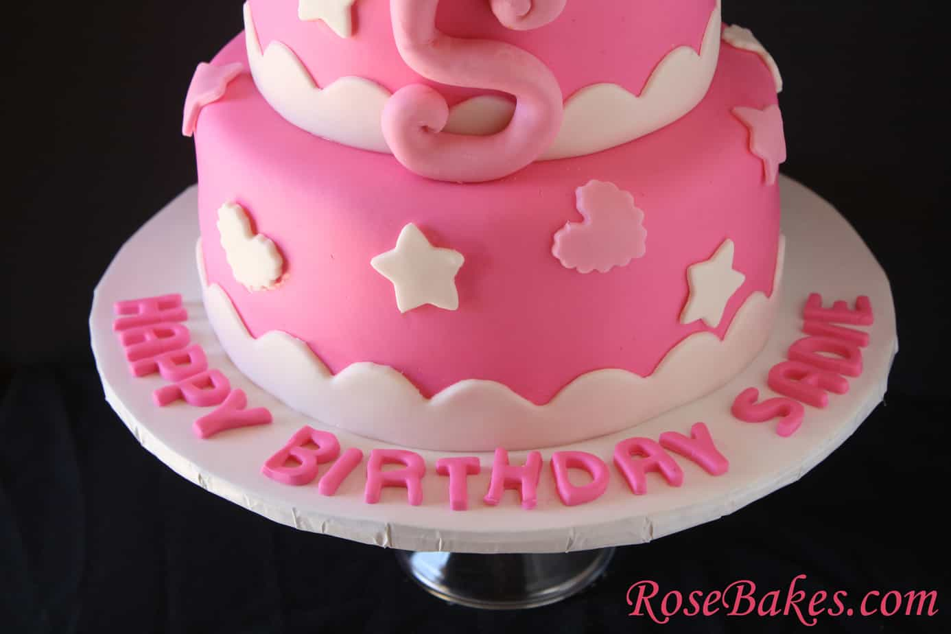 Hello Kitty Birthday Cake Bottom Name On Board Rose Bakes