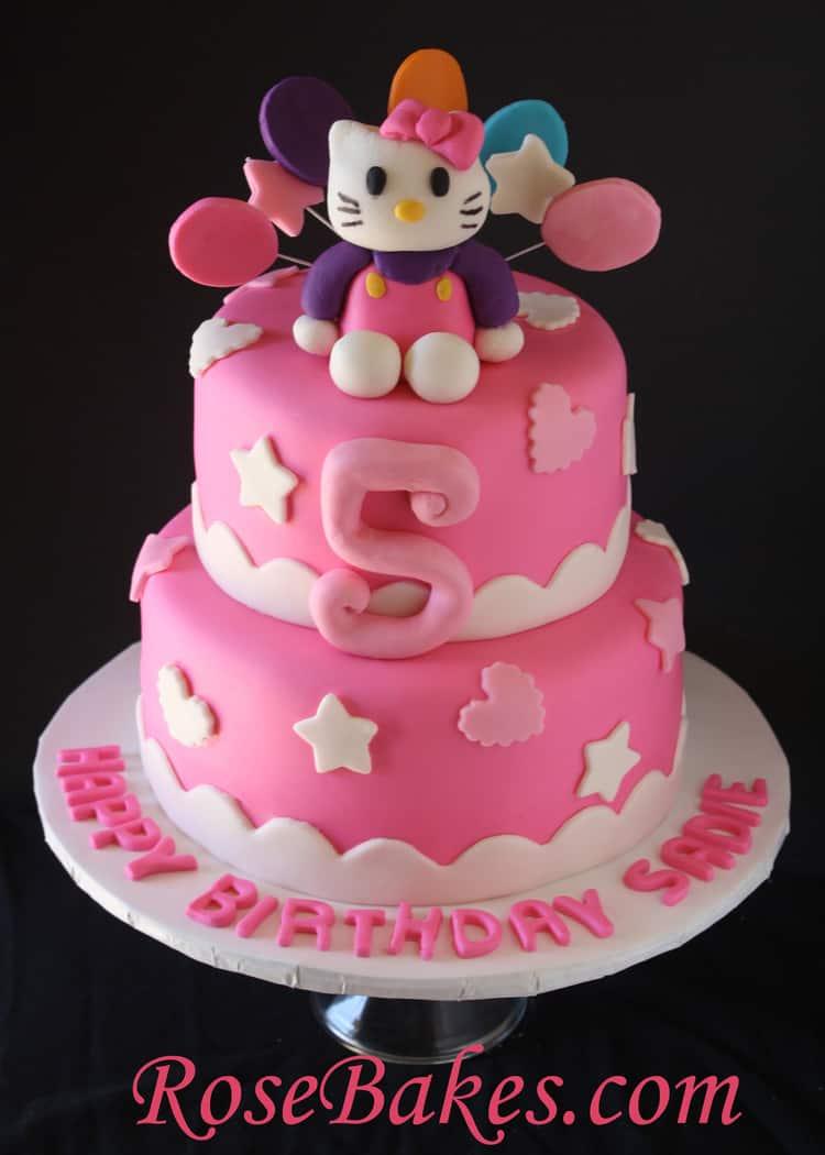 Hello Kitty Birthday Cake Cakey Goodness
