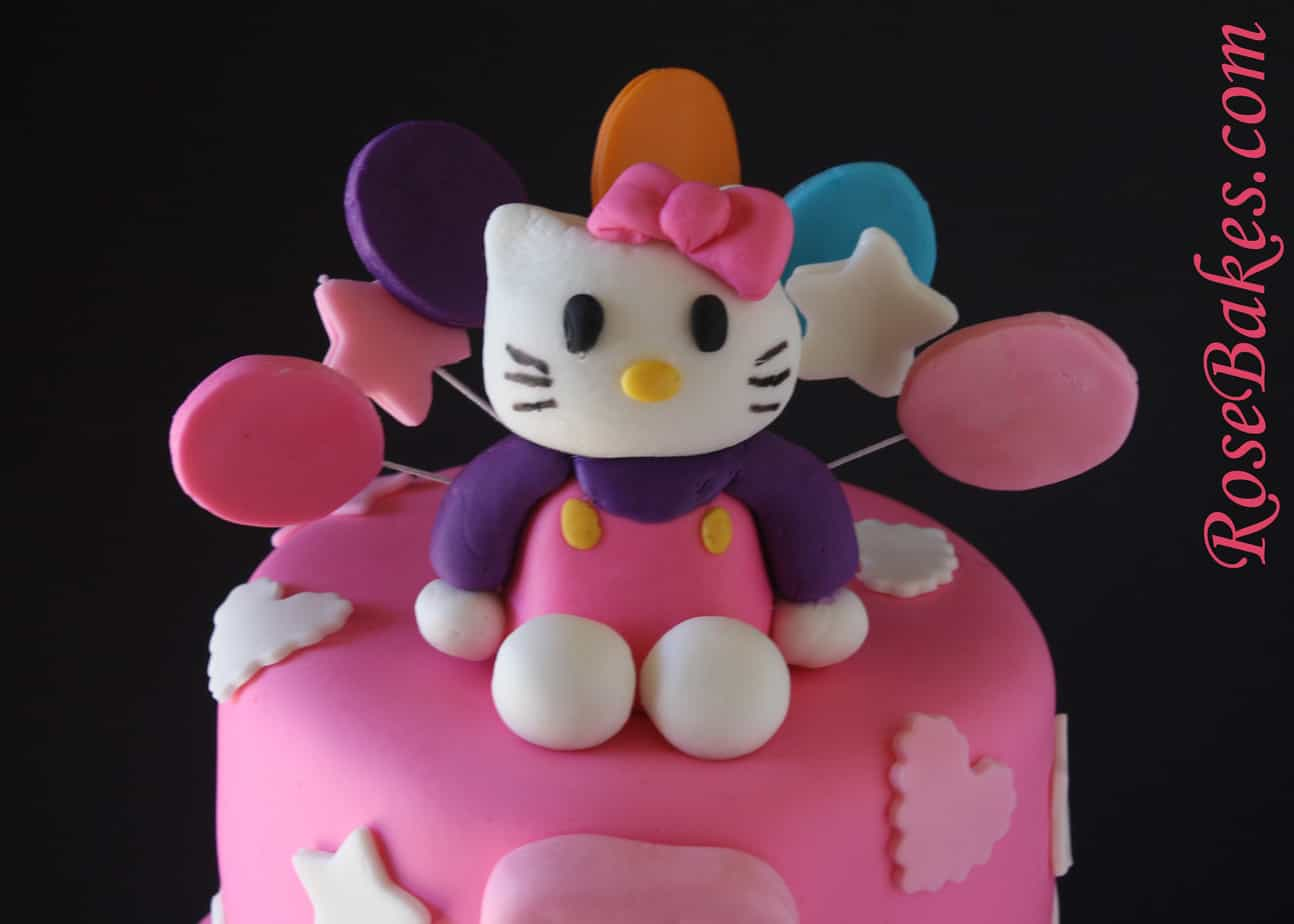 Hello Kitty Birthday Cake Top Close Rose Bakes