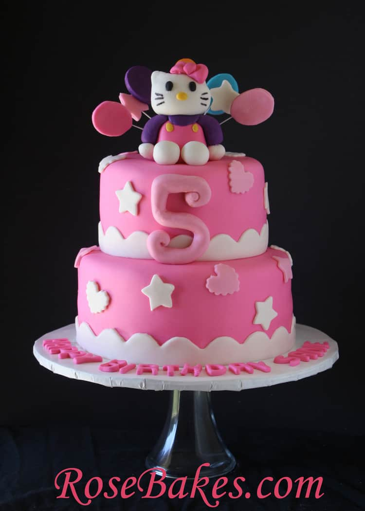 Hello Kitty Birthday Cake Rose Bakes