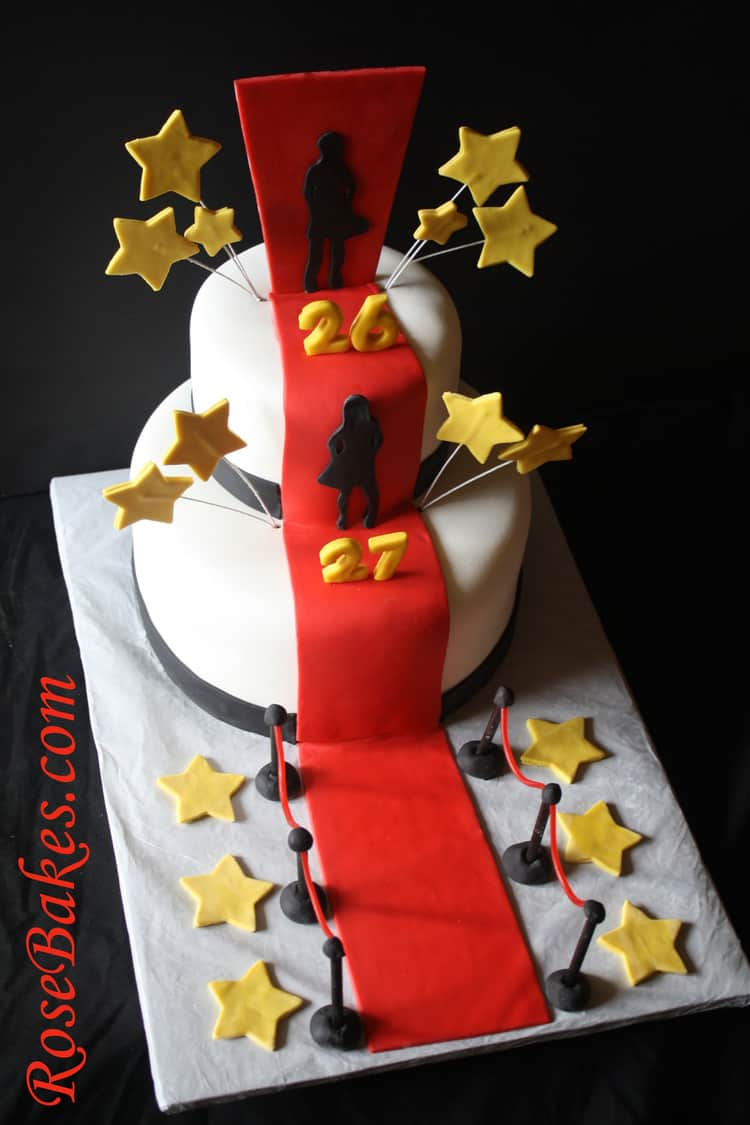 Red Carpet Cake Images : Hollywood Red Carpet Cake Angle - Rose Bakes