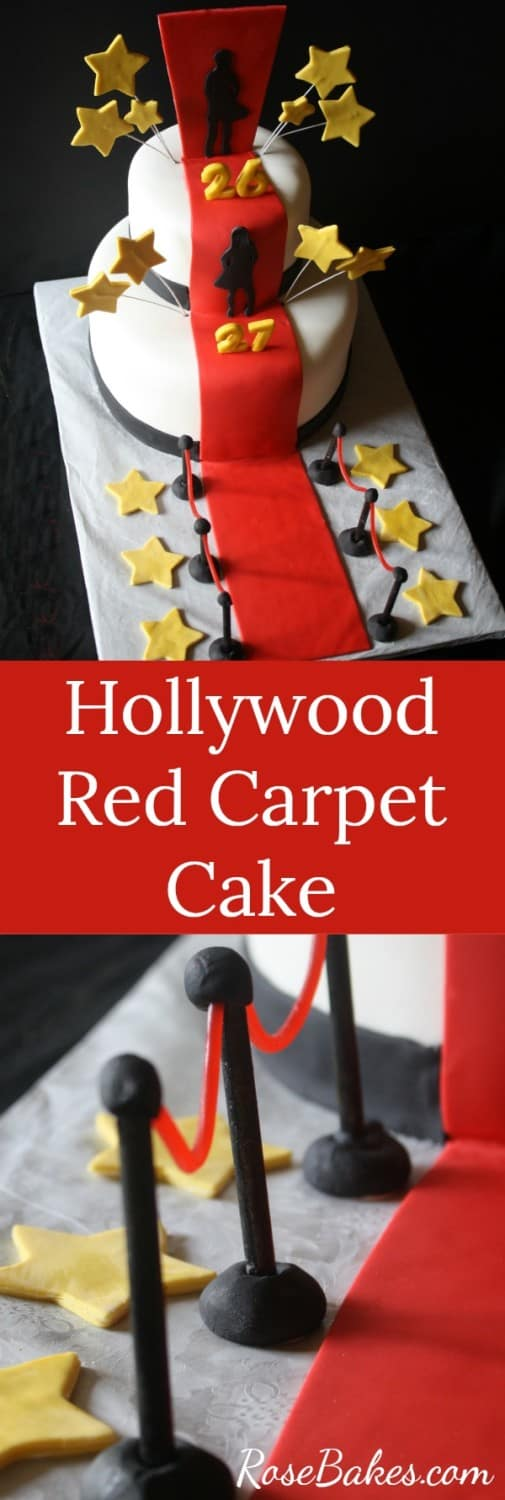 Hollywood Red Carpet Cake - Perfect for an Oscars Party!  RoseBakes