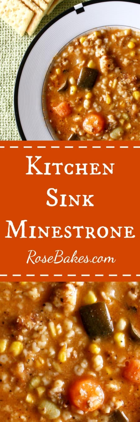 Kitchen Sink Minestrone - Fantastic, throw everything you've got in the pot SOUP. by Rose Bakes