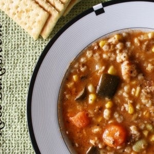 Kitchen Sink Minestrone Soup