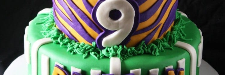 Lsu Football Birthday Cake