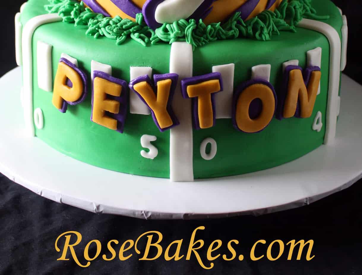 Excellent Lsu Football Birthday Cake Name Rose Bakes Personalised Birthday Cards Veneteletsinfo