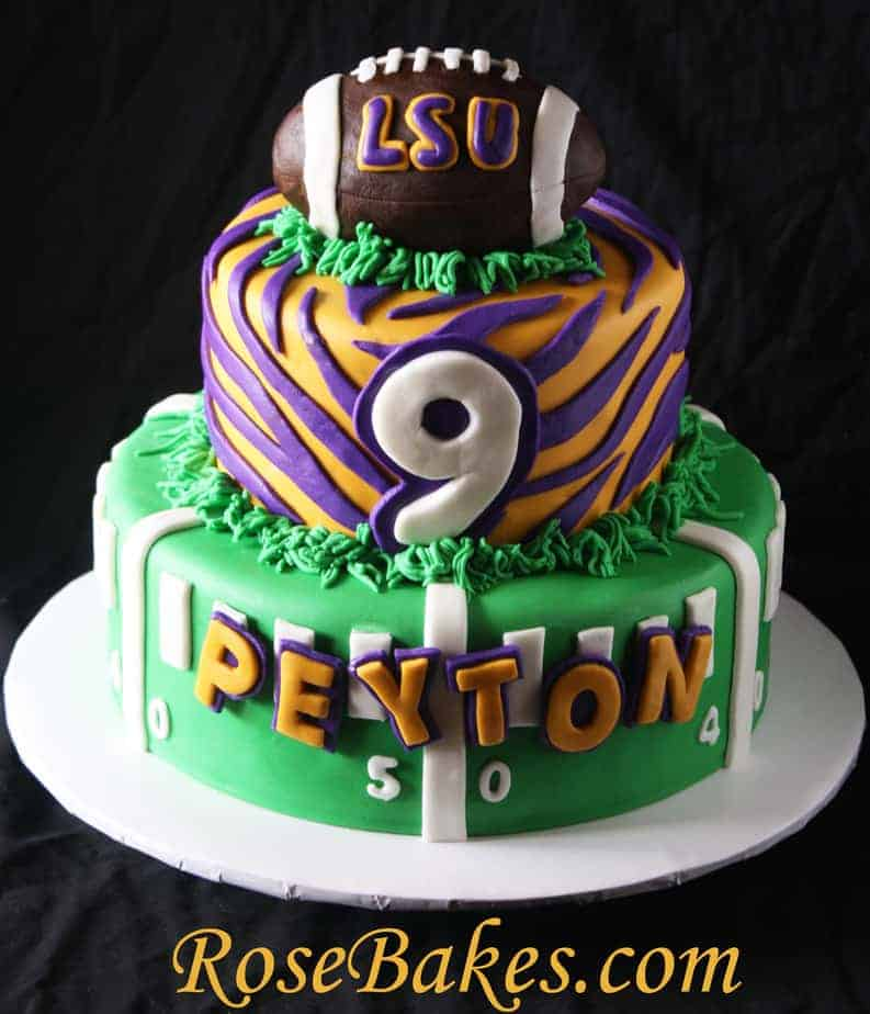 Lsu Football Birthday Cake Rose Bakes