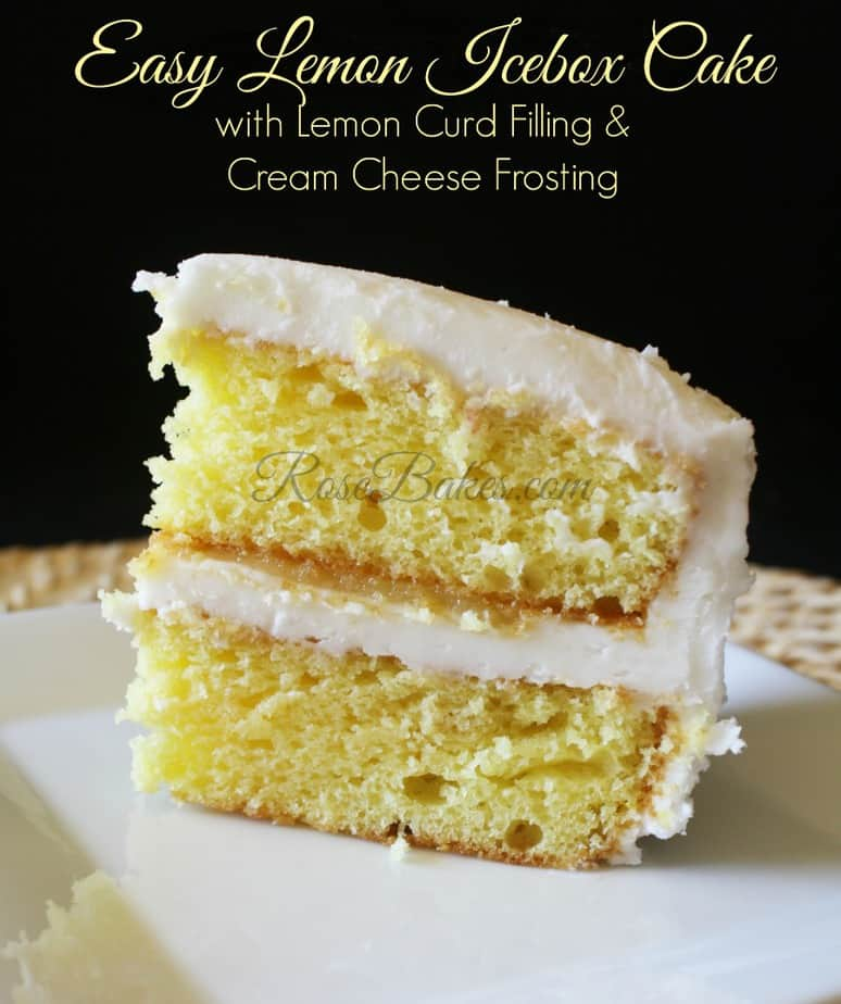 Lemon Icebox Cake with Lemon Curd and Cream Cheese Frosting Recipe