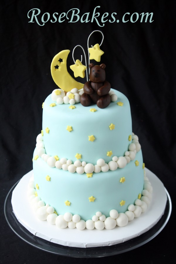 Bear Moon Amp Stars Baby Shower Cake Rose Bakes