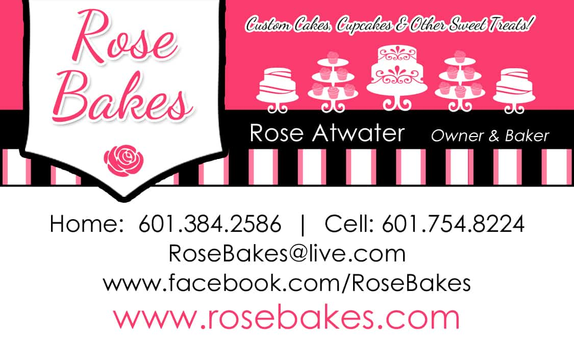 Rose bakes business card rose bakes rose bakes business card reheart Gallery