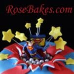 Superman Exploding Out of a Cake 2