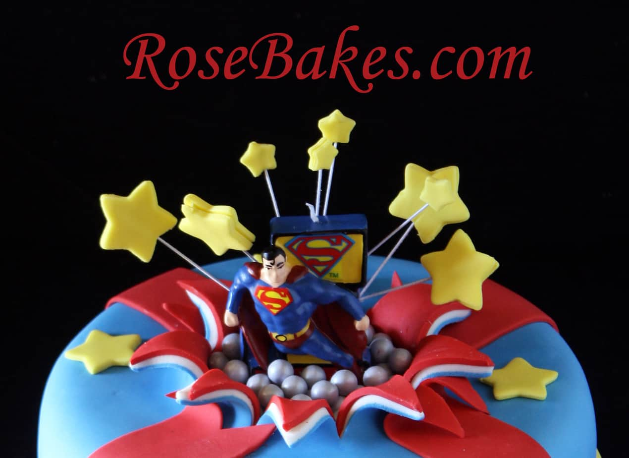 Superman Bursting Out Of The Cake Exploding Cake Tutorial Part 1