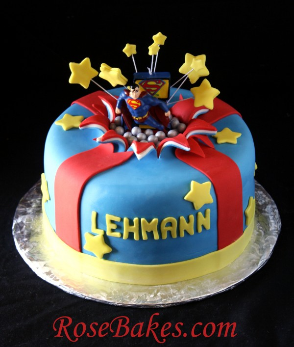 Superman Birthday Cake Designs