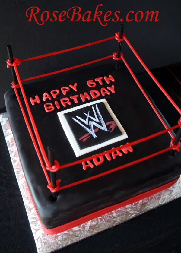 Wwe Wrestling Birthday Cake