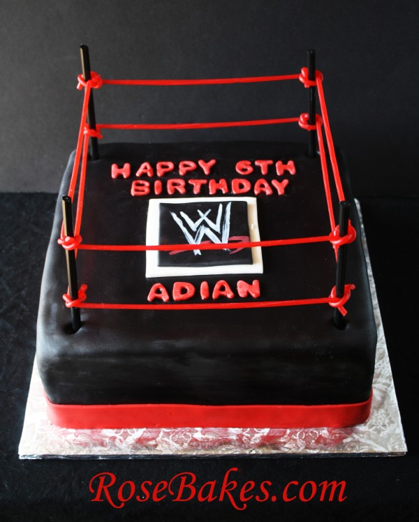 How To Make A Wwe Wrestling Ring Cake