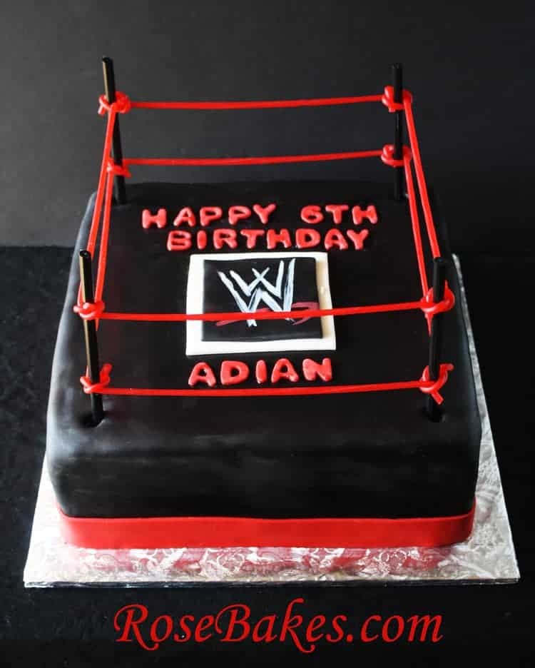 Fine Wwe Wrestling Birthday Cake Personalised Birthday Cards Paralily Jamesorg
