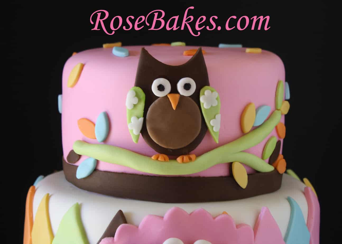 whoo loves you baby shower owl cake rose bakes