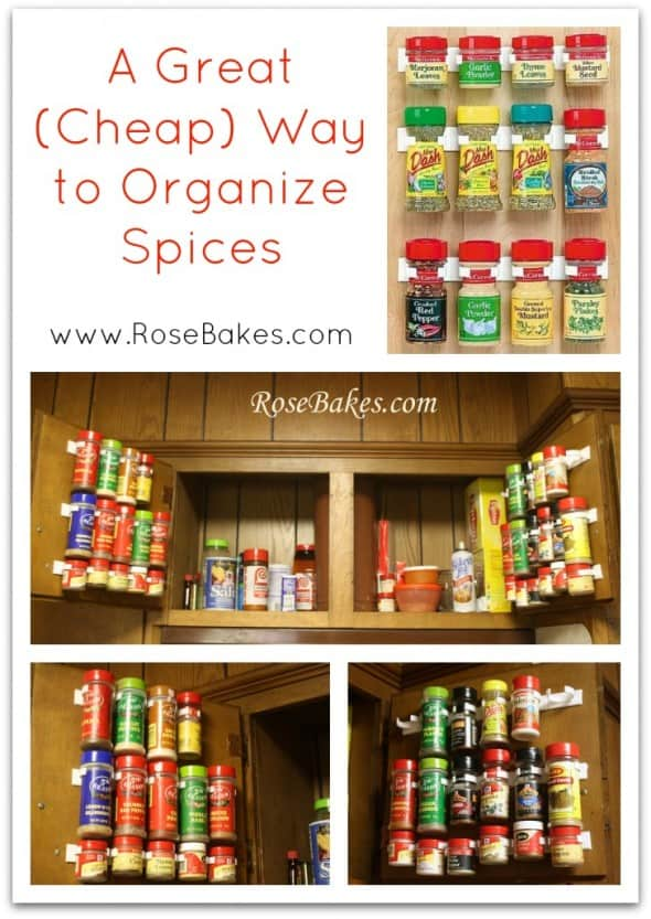 Wfmw the best way to organize spices ever rose bakes for Best way to organize kitchen cabinets