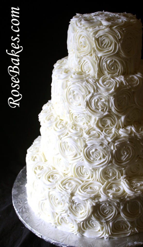 wedding cake icing roses ivory buttercream roses wedding cake with lovebirds cake 22882