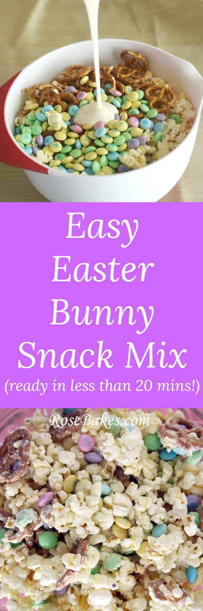 Easy Easter Bunny Snack Mix