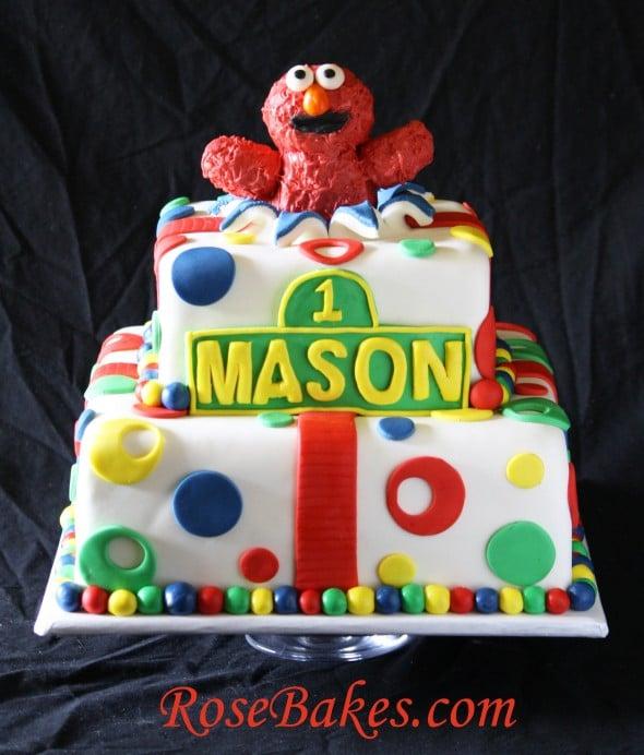 Pictures Elmo St Birthday With Smash Cake