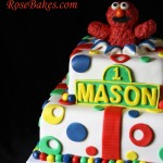 Elmo Exploding out of the Cake and Smash Cake