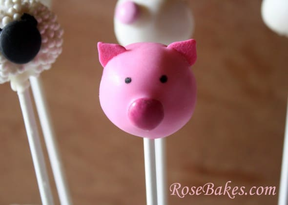 Farm Animal Cake Pops Pigs Cows Sheep Amp Roosters
