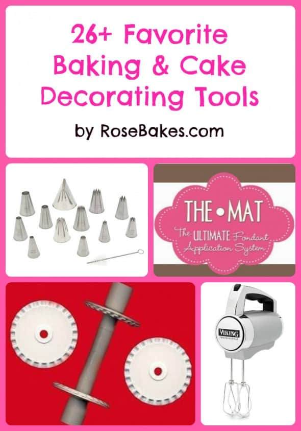 Tools used for decorating cakes